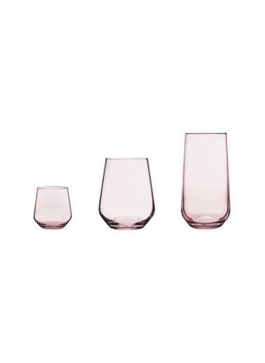 Paşabahçe Allegra Su Meşrubat Bardak Takımı - Su Bardağı Seti 18 Prç.Pembe Pembe